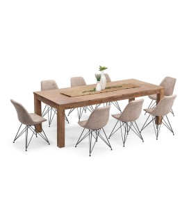 Vancouver Enzo Dining Set - Vintage Stone (2.4m) | Dining Sets -