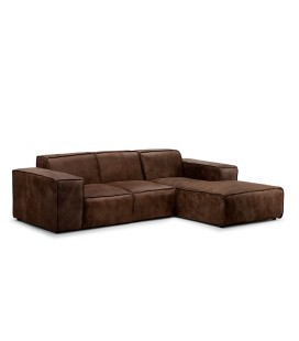 Jagger 2 Seater with Chaise - Spice | Fabric Couches | Living -