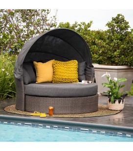Burma Patio Daybed - Warm Grey | Daybeds -
