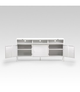Gable Steel TV Stand - Large - White -