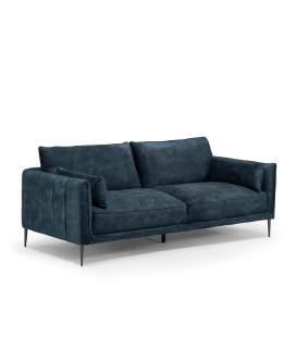 Emeline Couch - Textured Velvet Teal -