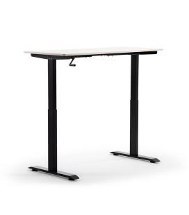 Velocity Height Adjustable Standing Desk - Black & Maple -