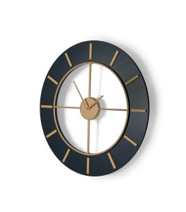 Tomkin Wall Clock - Blue & Gold -