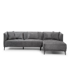 Chenelle Corner Couch - Dark Grey -