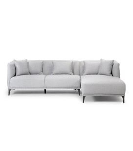 Chenelle Corner Couch - Light Grey -