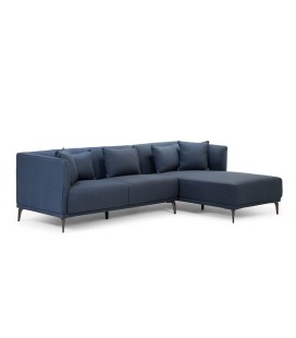 Chenelle Corner Couch - Dark Blue Grey -