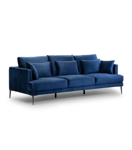 Ambra Couch - Velvet Dark Blue -