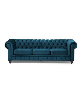 Clairfield Couch - Dark Blue | Couches -