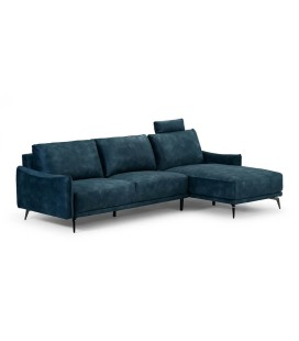 Angeletta Corner Couch - Textured Velvet Teal -