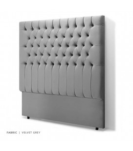 Kate King Headboard - Velvet Grey -