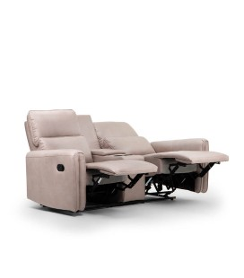 Walden 2 Seater Cinema Recliner - Driftwood -