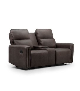 Walden 2 Seater Cinema Recliner - Mercury -