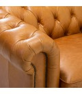 Jefferson Chesterfield 2 Seater Couch - Tan Brown -