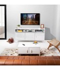 Gable Steel TV Stand - Large - White