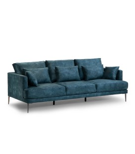 Ambra Couch - Textured Velvet Teal -