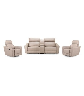 Morris Ultra Cinema Recliner Set - Driftwood -