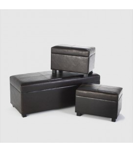CO-3P-DB - 3 Piece Storage Ottoman set - Vintage -