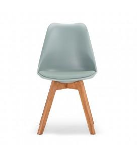 Azariah Dining Table 1.8m + Atom Dining Chair - Light Green x6 -