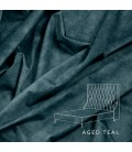 Madison Bed - Single | Aged Teal