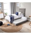 Alexa Dual Function Bed - Alaska Grey - Single