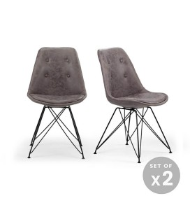 Enzo Dining Chair - Vintage Grey - Set of 2 -