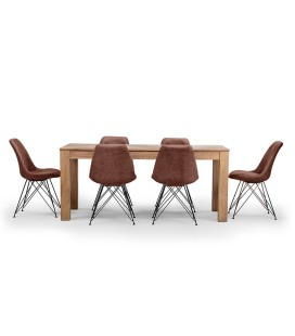 Montreal Enzo Dining Set - Vintage Brown -