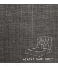 Charlotte bed - Three Quarter | Alaska Dark Grey
