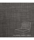Charlotte bed - Double | Alaska Dark Grey