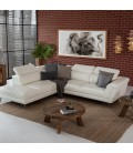 Laurence Corner Couch - White -