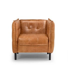 Edison Leather Armchair - Wax Crackle Ginger -