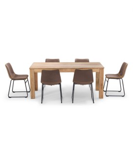 Montreal Halo Dining Set - Ginger -