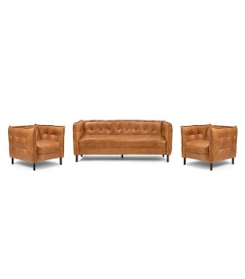 Edison Lounge Suite - Wax Crackle Ginger