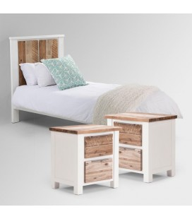 Waldorf Bed + Set of two Pedestal