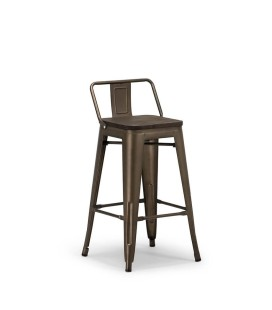 Tyce Counter Bar Chair - Weathered Bronze -