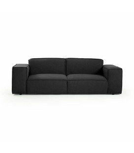 Jagger 3 Seater Fabric Couch - Graphite -