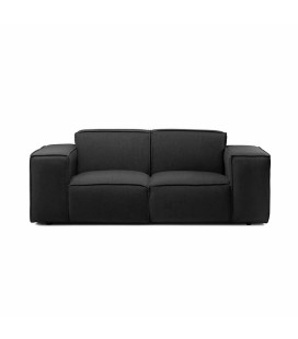 Jagger 2 Seater Fabric Couch - Graphite -