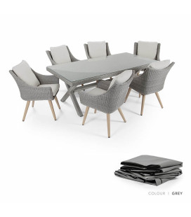 Marseille Patio Dining Protective Cover - Grey