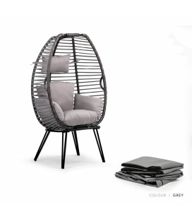 Olin Patio Chair - Protective Cover - Grey -