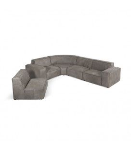 Jagger Leather Modular - Grand Corner Couch Set -