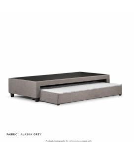 Jupiter Dual Function Kids Bed Base - Three Quarter - Alaska Grey -