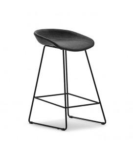Ashlyn Upholstered Bar Chair-Black -