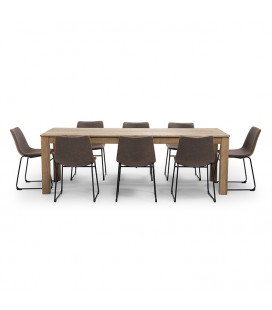 Montreal 2,4m| Halo Dining Set - Ginger -