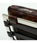 Morello Chaise Vintage Dark Brown Leather Lounger -