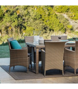 GFS7013-ST - Nevada 6 Seater Patio Dining Set - Stone -