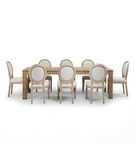 Montreal Olivia 8 Seater Dining Set 2.4m -