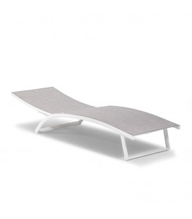 Alayna Pool Lounger - Grey and White -