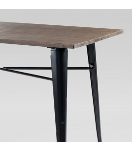 ARK-T005-BK-NW - Clement Metal Dining Table - Black -
