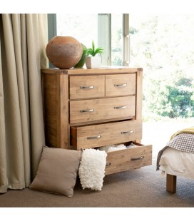 Vancouver Bed + Chest of Drawers + 2 x Pedestals
