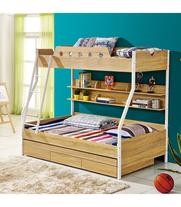 Kids Double Bunk Bed With Trundle Bed Bunk Beds
