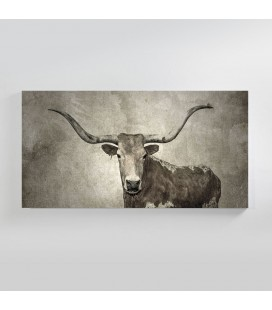 Texas Longhorn Abstract Canvas Art | Wall Art -